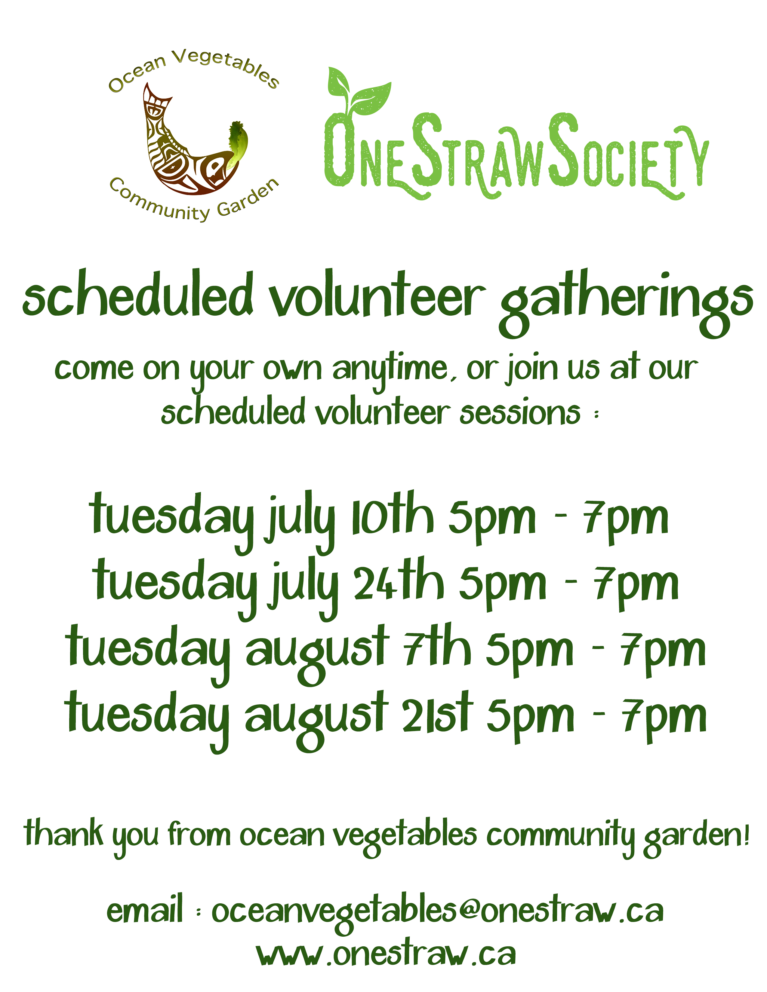 Ocean Vegetables Community Garden Volunteer Evening | One